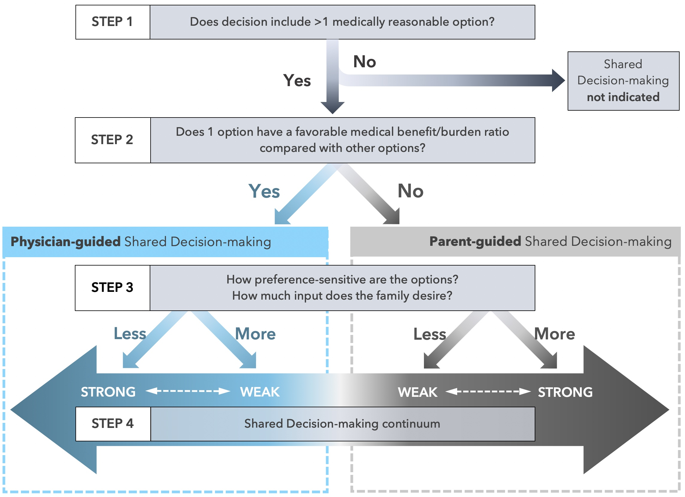 Opel DJ. A 4-step framework for shared decision-making in pediatrics